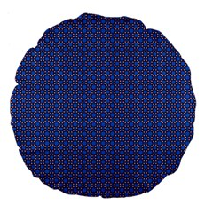 Alvilde Othelie Blue Pink Black Pattern  Large 18  Premium Flano Round Cushions by CircusValleyMall