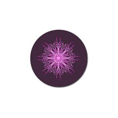 Pink Kaleidoscope Flower Mandala Art Golf Ball Marker (4 Pack) by yoursparklingshop