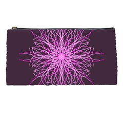 Pink Kaleidoscope Flower Mandala Art Pencil Cases by yoursparklingshop