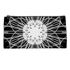 Black And White Flower Mandala Art Kaleidoscope Pencil Cases by yoursparklingshop