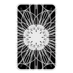 Black And White Flower Mandala Art Kaleidoscope Memory Card Reader by yoursparklingshop