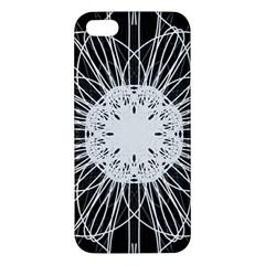 Black And White Flower Mandala Art Kaleidoscope Apple Iphone 5 Premium Hardshell Case by yoursparklingshop