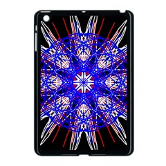 Kaleidoscope Flower Mandala Art Black White Red Blue Apple Ipad Mini Case (black) by yoursparklingshop