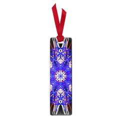 Kaleidoscope Flower Mandala Art Black White Red Blue Small Book Marks by yoursparklingshop