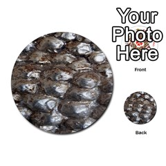 Festive Silver Metallic Abstract Art Multi Purpose Cards (round)  by yoursparklingshop