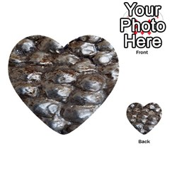 Festive Silver Metallic Abstract Art Multi Purpose Cards (heart)  by yoursparklingshop