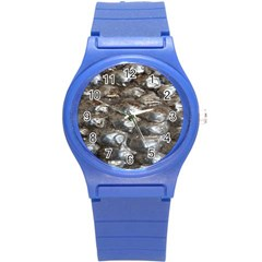 Festive Silver Metallic Abstract Art Round Plastic Sport Watch (s) by yoursparklingshop