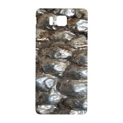 Festive Silver Metallic Abstract Art Samsung Galaxy Alpha Hardshell Back Case by yoursparklingshop