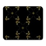 Black Gold Lights chic festive crosses Large Mouse Pad (Rectangle)