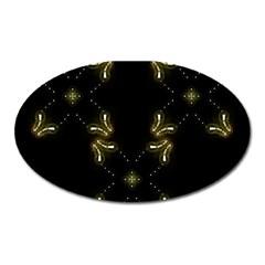 Festive Black Golden Lights  Oval Magnet by yoursparklingshop