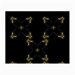 Festive Black Golden Lights  Small Glasses Cloth by yoursparklingshop