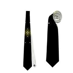 Festive Black Golden Lights  Neckties (two Side)  by yoursparklingshop