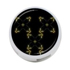 Festive Black Golden Lights  4 Port Usb Hub (one Side) by yoursparklingshop