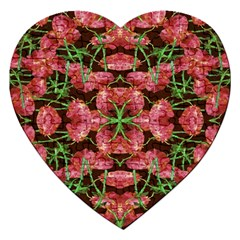 Floral Collage Pattern Jigsaw Puzzle (heart) by dflcprints