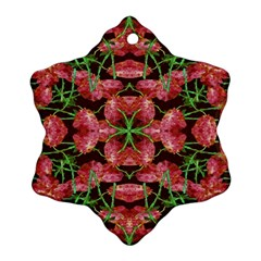 Floral Collage Pattern Snowflake Ornament (2 Side) by dflcprints