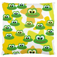 Cute Frog Family Whimsical Funny Standard Flano Cushion Case (two Sides) by CircusValleyMall