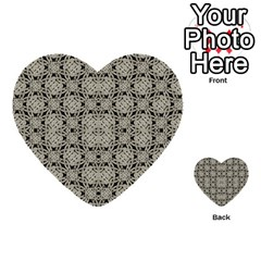 Interlace Arabesque Pattern Multi Purpose Cards (heart)  by dflcprints