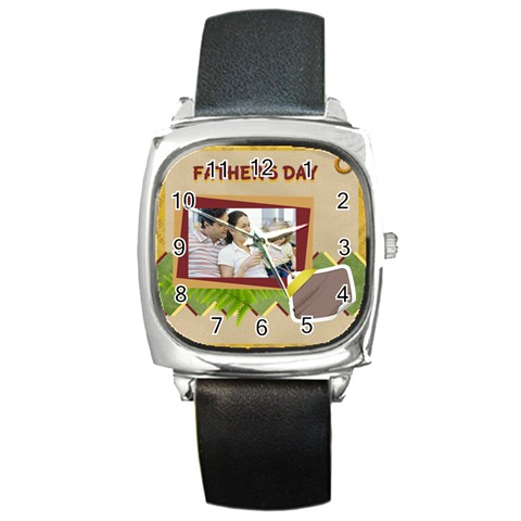 Dad By Dad   Square Metal Watch   Plq1oy0yf8fv   Www Artscow Com Front