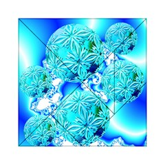 Blue Ice Crystals, Abstract Aqua Azure Cyan Acrylic Tangram Puzzle (6  X 6 ) by DianeClancy