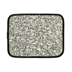 Black And White Abstract Texture Netbook Case (small)  by dflcprints