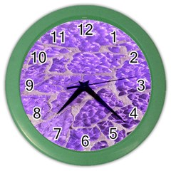 Festive Chic Purple Stone Glitter  Color Wall Clocks by yoursparklingshop