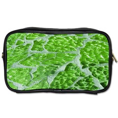 Festive Chic Green Glitter Shiny Glamour Sparkles Toiletries Bags 2 Side by yoursparklingshop