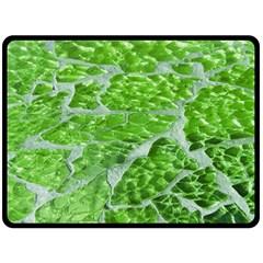 Festive Chic Green Glitter Shiny Glamour Sparkles Fleece Blanket (Large)  by yoursparklingshop