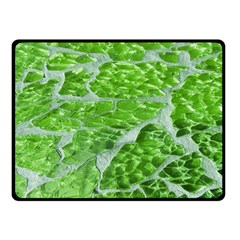 Festive Chic Green Glitter Shiny Glamour Sparkles Fleece Blanket (small) by yoursparklingshop