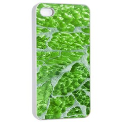 Festive Chic Green Glitter Shiny Glamour Sparkles Apple Iphone 4/4s Seamless Case (white) by yoursparklingshop