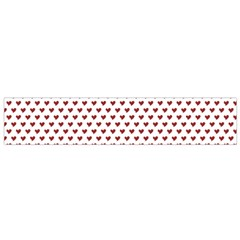 Ruby Red Small Hearts Pattern Flano Scarf (small) by CircusValleyMall