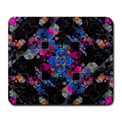 Stylized Geometric Floral Ornate Large Mousepads by dflcprints