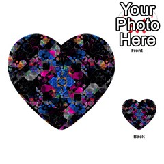 Stylized Geometric Floral Ornate Multi Purpose Cards (heart)  by dflcprints