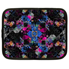 Stylized Geometric Floral Ornate Netbook Case (large) by dflcprints