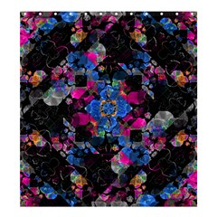 Stylized Geometric Floral Ornate Shower Curtain 66  X 72  (large)  by dflcprints