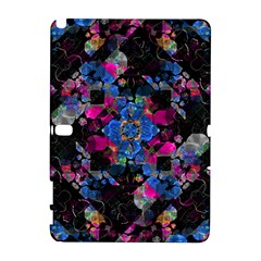 Stylized Geometric Floral Ornate Samsung Galaxy Note 10.1 (P600) Hardshell Case by dflcprints
