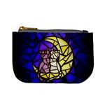 Moon Kitties Stained Glass Coin Change Purse
