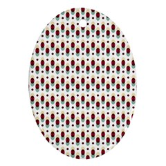 Geometric Retro Patterns Oval Ornament (two Sides) by TastefulDesigns