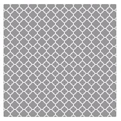 Grey Quatrefoil Pattern Large Satin Scarf (square) by Zandiepants