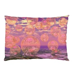 Glorious Skies, Abstract Pink And Yellow Dream Pillow Case by DianeClancy