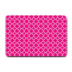 Hot Pink Quatrefoil Pattern Small Doormat by Zandiepants