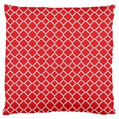 Poppy Red Quatrefoil Pattern Standard Flano Cushion Case (two Sides) by Zandiepants