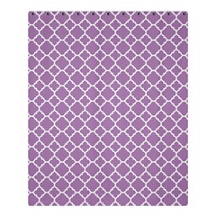 Lilac Purple Quatrefoil Pattern Shower Curtain 60  X 72  (medium) by Zandiepants