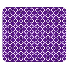Royal purple quatrefoil pattern Double Sided Flano Blanket (Small) by Zandiepants