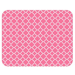 Soft Pink Quatrefoil Pattern Double Sided Flano Blanket (medium) by Zandiepants