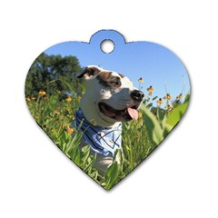 Pit Bull T Bone Dog Tag Heart (one Side) by ButThePitBull
