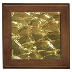 Gold Bar Golden Chic Festive Sparkling Gold  Framed Tiles by yoursparklingshop