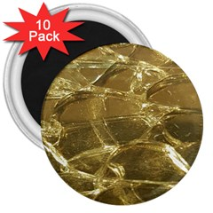 Gold Bar Golden Chic Festive Sparkling Gold  3  Magnets (10 Pack)  by yoursparklingshop