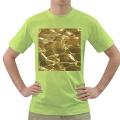 Gold Bar Golden Chic Festive Sparkling Gold  Green T Shirt by yoursparklingshop