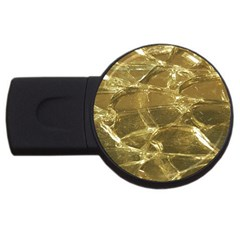Gold Bar Golden Chic Festive Sparkling Gold  Usb Flash Drive Round (2 Gb)  by yoursparklingshop