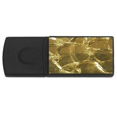Gold Bar Golden Chic Festive Sparkling Gold  Usb Flash Drive Rectangular (4 Gb)  by yoursparklingshop